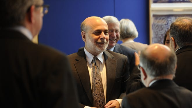 Federal Reserve Chairman Ben Bernanke meets with USA TODAY's Editorial Board on Jan. 6 in McLean, Va.