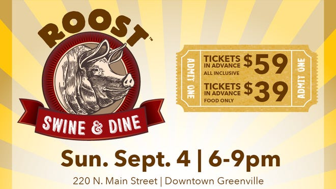 Roost will host the second annual Swine & Dine Sept. 4 to raise money for the Culinary Institute of the Carolinas' new sustainable agriculture program.