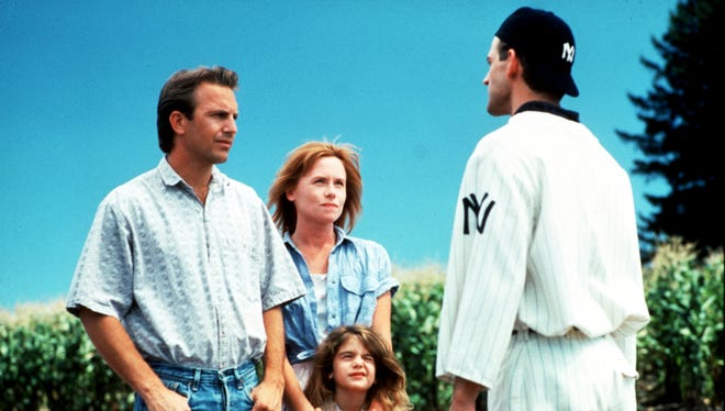"Kevin Costner (left) headed up the baseball drama ""Field of Dreams."""