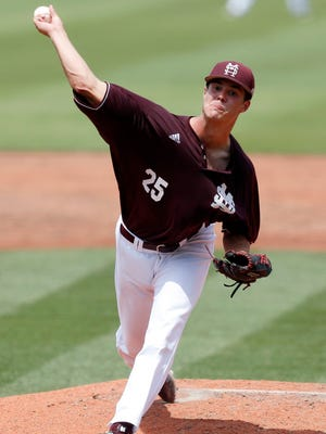 Mississippi State pitcher Dakota Hudson will likely be selected in the MLB draft on Thursday night.