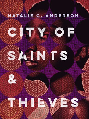 """The cover of Natalie C. Anderson's """"City of Saints & Thieves."""""""
