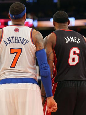 Carmelo Anthony and LeBron James can become free agents this offseason.
