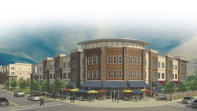 A rendering of Loveland Station development in Downtown Loveland. CMC Properties is developing the $12 million project for 94 apartments and 15,000 square feet of retail space.
