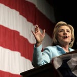 Democratic presidential candidate Hillary Clinton campaigns in Clear Lake, Iowa, on Aug. 14, 2015.