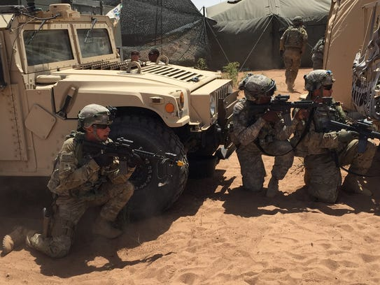 Soldiers from the 47th Brigade Support Battalion respond