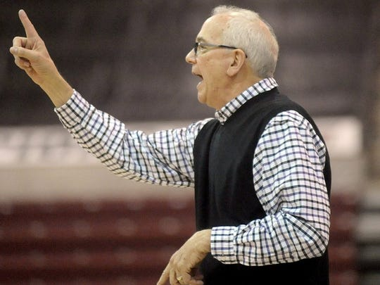 Sean Steffen/Amarillo Globe-News Canyon girls head basketball coach Joe Lombard is a member of six halls of fame — National Women's Basketball, National High School, Wayland Baptist University, Canyon High School, Texas Girls Coaching Association, and Texas Association of Basketball Coaches