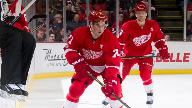 Detroit center Dylan Larkin played a career-low 7 minutes, 58 seconds in Sunday's 5-2 victory over Pittsburgh.