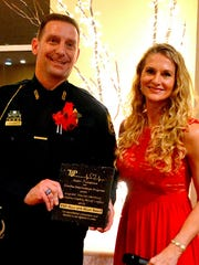 """Sgt. Odenbrett was honored at last year's TIP gala, """"Heroes with Heart"""" by TIP Executive Director Deanna Smith. He is a recipient of the award this year as well, and is the only person to have received the award twice."""