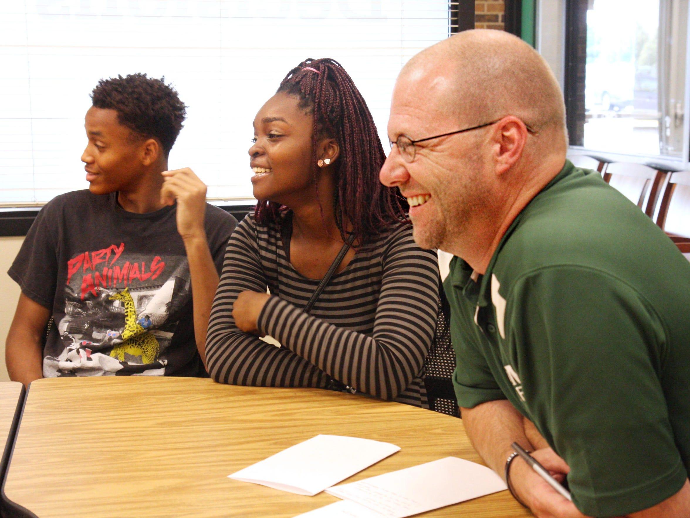 Madison Memorial High School Principal Jay Affeldt,