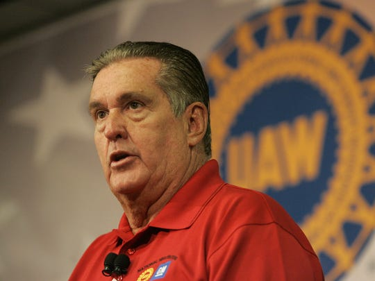 UAW VP for GM Joe Ashton answers a question from the media at the GM Detroit-Hamtramck Assembly Plant in Detroit on Wednesday, July 27, 2011.