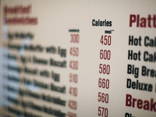 AP CALORIES ON MENUS A FILE USA NY