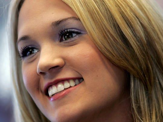 """""""American Idol"""" winner Carrie Underwood in June 2005"""