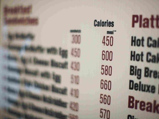 FDA calorie labeling on menus