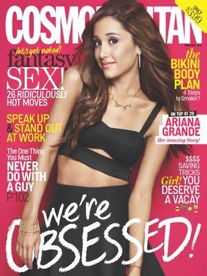 Ariana Grande graces the February cover of 'Cosmo.'