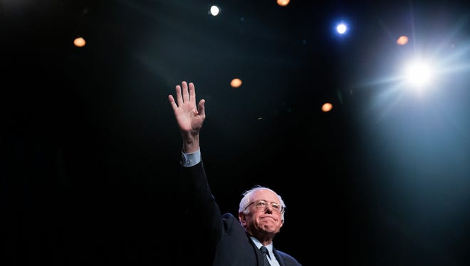 NEW YORK, NY - APRIL 9:  Democratic presidential candidate Sen. Bernie Sanders (D-VT) attends a Community Conversation at the Apollo Theater on April 9, 2016 in the Harlem neighborhood of New York City. The New York Democratic primary is scheduled for April 19th. (Photo by Eric Thayer/Getty Images)