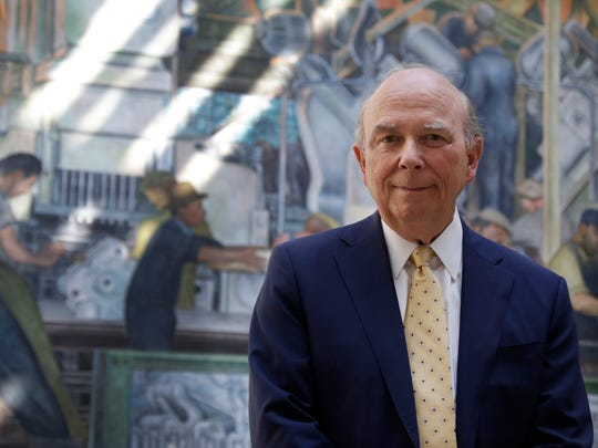 Eugene Gargaro, Jr., Chairman of the Board at the DIA poses in Diego Rivera Court at the DIA Wednesday Aug. 23, 2017. Gargaro is the winner of the Neal Shine Award for Exemplary Regional Leadership.
