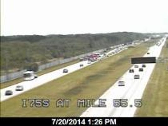 A fatal crash is blocking the westbound lanes of I-75.