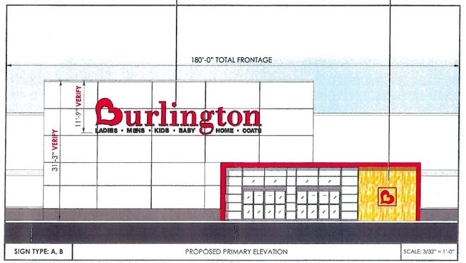 A rendering of the proposed Burlington Coat Factory location at the Centre at Salisbury in Salisbury.