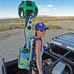 A Google Trekker device as seen Tuesday, March 22 at the University of Nevada, Reno campus.