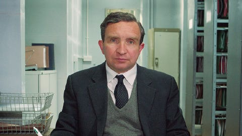 Eddie Marsan plays a quiet man who tracks down loved ones of people found dead and alone.