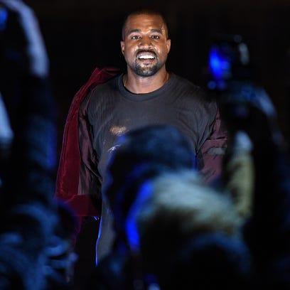Kanye West performs in Yerevan, Armenia, in April 2015.