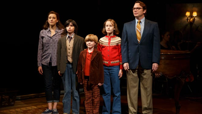 """From left to right, Judy Kuhn, Oscar Williams, Zell Morrow, Sydney Lucas and Michael Cerveris performed as part of the original cast of the Broadway musical """"Fun Home."""""""