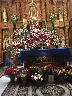 La iglesia Cristo Rey celebró a la Virgen de Guadalupe