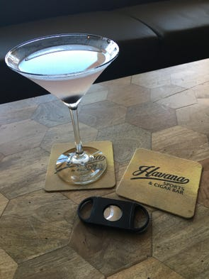 "An ""Aviation"" gin-based specialty cocktail at Havana"