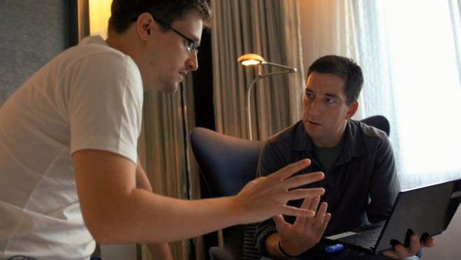 "Edward Snowden in ""Citizenfour,"" opening Jan. 16 at Robinson Film Center."
