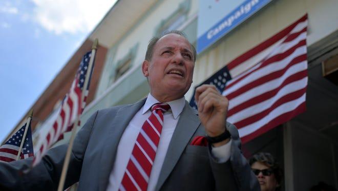 Vineland mayor Ruben Bermudez announces his reelection campaign Monday, Jul. 18, 2016 in Vineland.