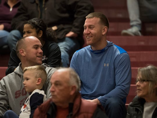 Todd Frazier watches the Toms River South boys basketball