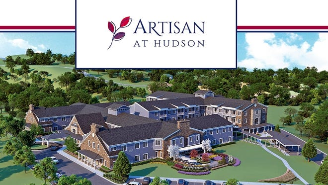 An artist's rendition of the senior community opening this fall in Hudson. Several local residents have leadership positions at Artisan.
