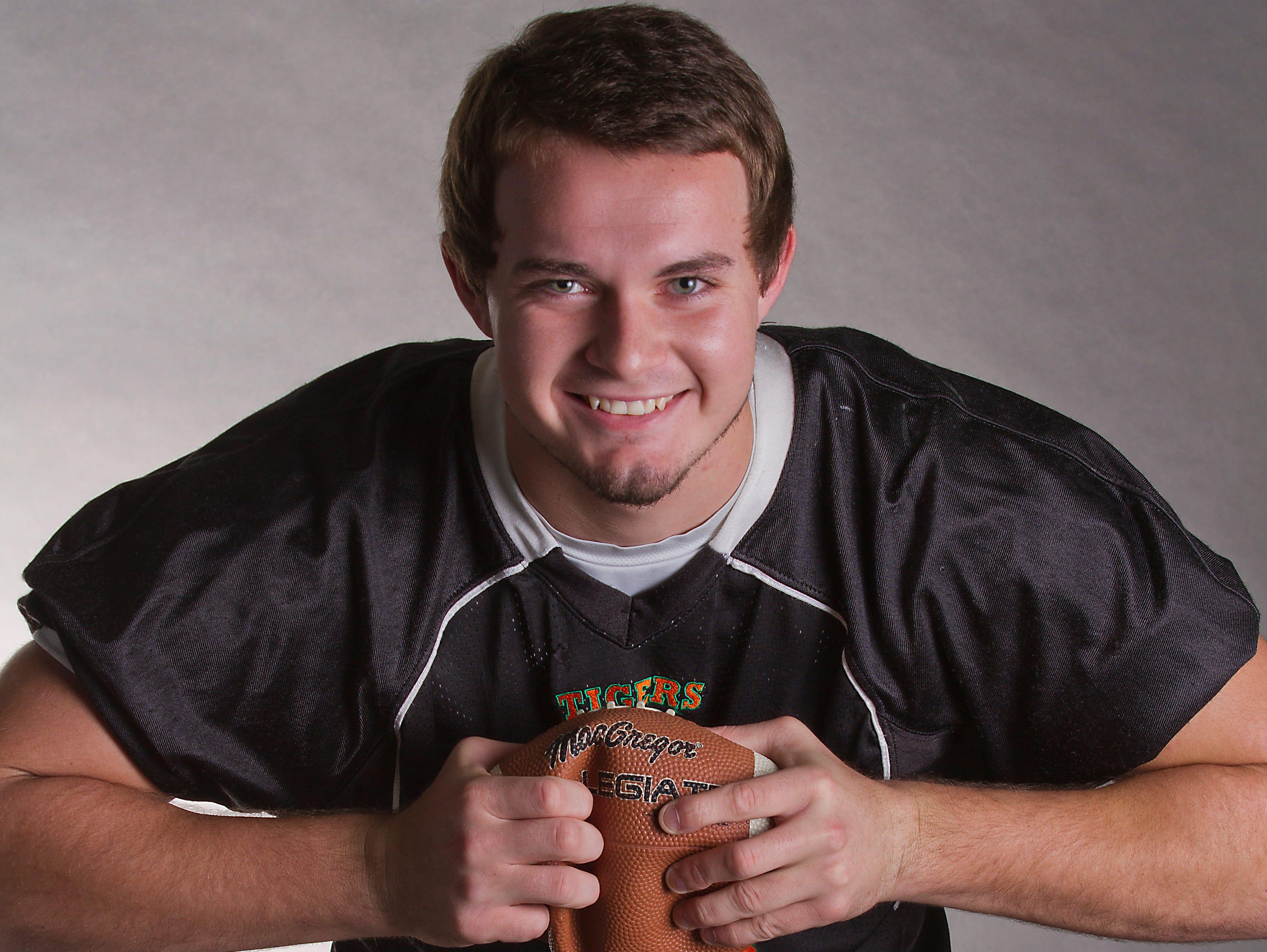 Zach Lackman, 18, Dunbar HS; All Area Football - 2015-2016 school year