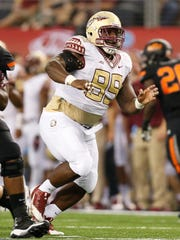 Nile Lawrence-Stample will be counted upon to lead the Seminoles' defensive line.