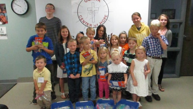 Redeemer Lutheran Sunday School classes collected 700 toothbrushes for the Ozark Center of Hope during the third quarter of 2015.  These toothbrushes will be distributed to all clients who come to OCOH for assistance.
