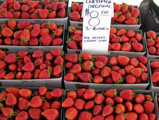 Strawberries at a Farmer's Market
