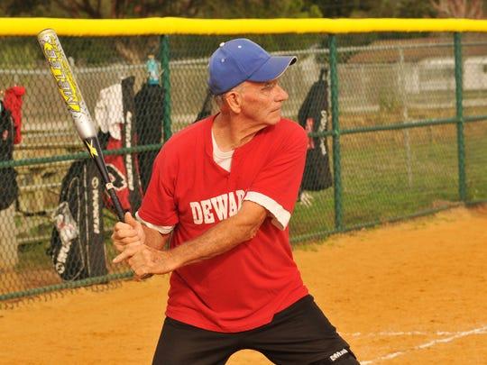 Joe Urick at bat.