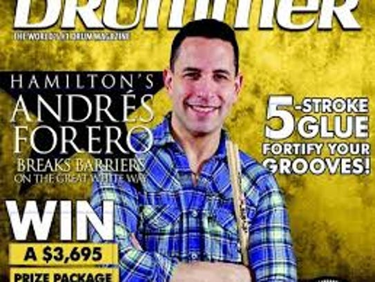 Andrés Forero, who made the cover of Modern Drummer,
