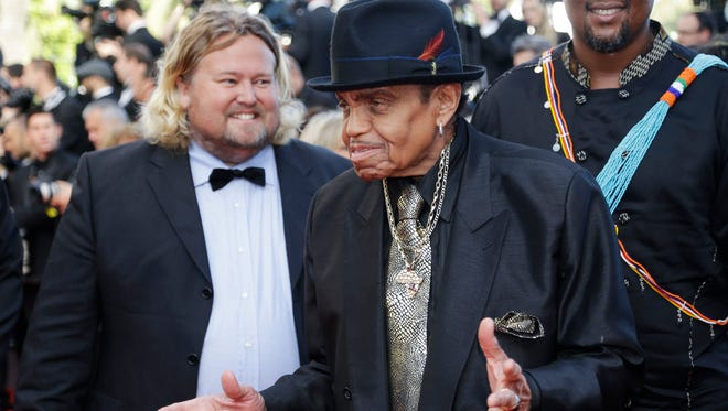 Joe Jackson arrives for the screening of Sils Maria at the 67th international film festival, Cannes, southern France on May 23, 2014.