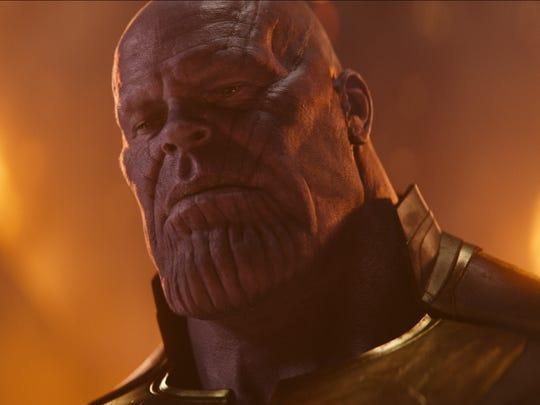 "In ""Avengers: Infinity War,"" the demigod Thanos (Josh"