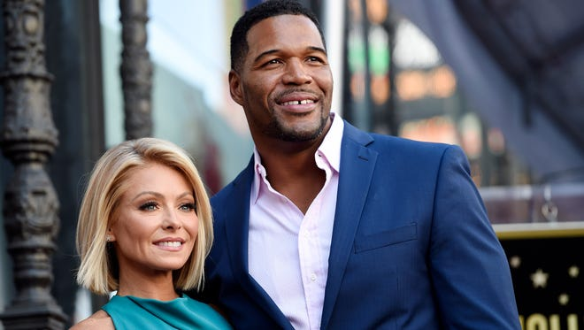 """Kelly Ripa and Michael Strahan have been co-hosting the daily television talk show """"LIVE! with Kelly and Michael"""" since 2012."""