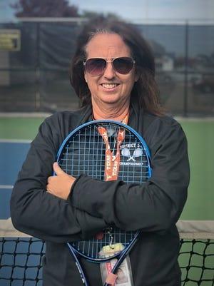 Abilene High tennis coach Stacy Bryan