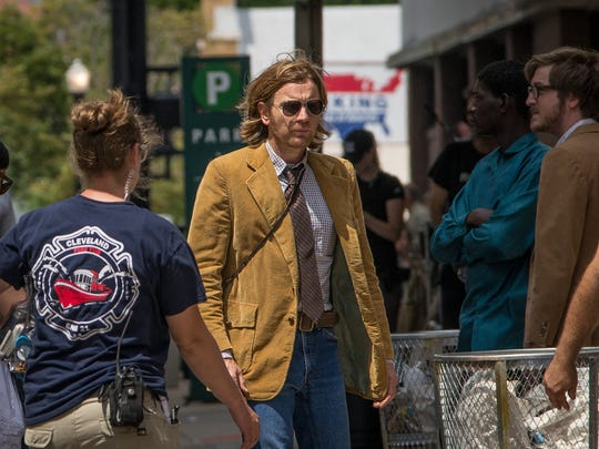 "Ewan McGregor played a 1979 Rolling Stone writer who helped Miles Davis in the first scene filmed for Don Cheadle's ""Miles Ahead"" on Seventh Street July 7."