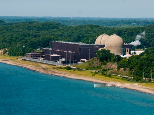 The Donald C. Cook Nuclear Power Plant near Bridgman, Mich.,on the shores of Lake Michigan, is a major source of energy for the company.