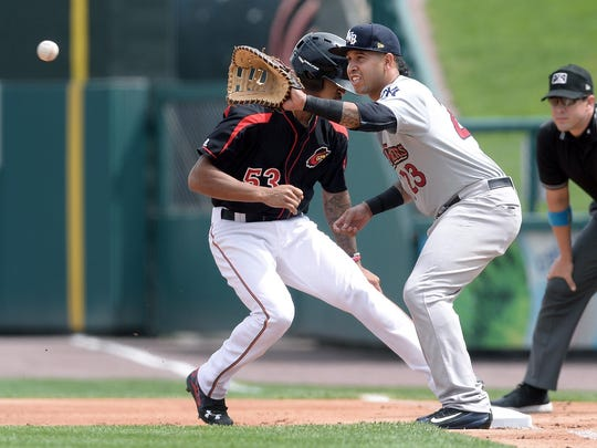 Scranton/Wilkes-Barre's Cito Culver reaches the ball