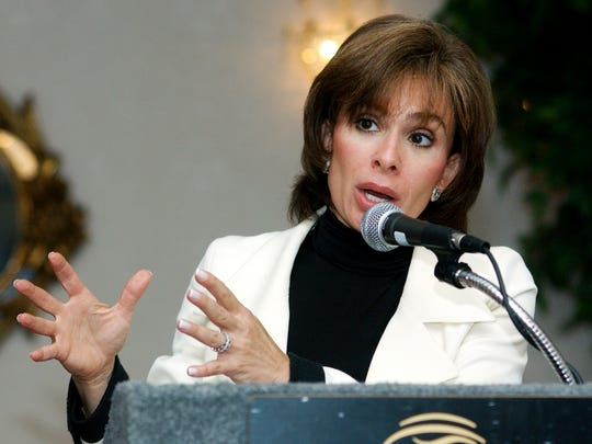 Westchester County District Attorney Jeanine Pirro addresses the Dutchess County Bar Association on Internet crime during a lunch held at the Poughkeepsie Grand Hotel on Wednesday, Sept. 17, 2003 in Poughkeepsie.