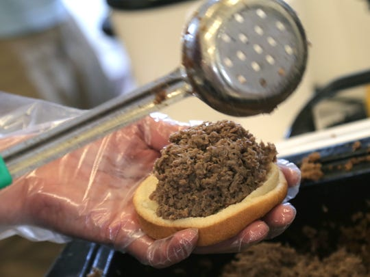 8,500 pounds of beef was slow cooked for the 52nd annual
