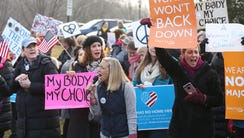 Women's Peace Rally in Wyckoff where between 250-300
