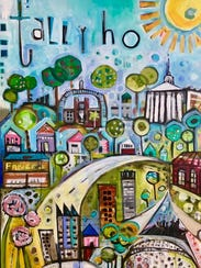 """Tally Ho"" by Jenny Odom, on display at the Artport"