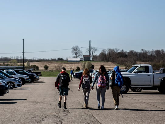 Students have been trickling out of Lakewood High School
